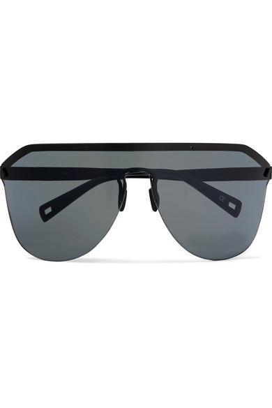 Westward Leaning - Vibe D-frame Matte-acetate Sunglasses - Black