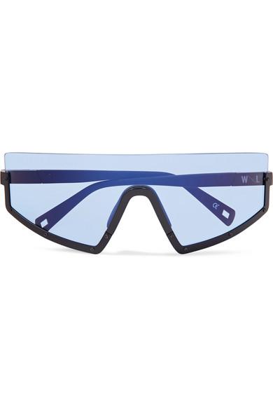 Westward Leaning - Stun D-frame Matte-acetate Sunglasses - Blue