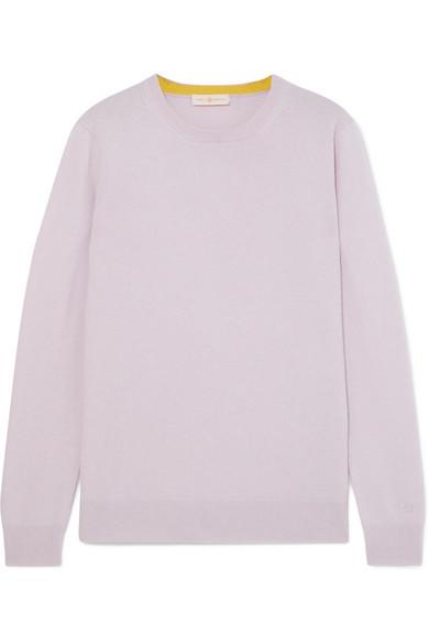 Bella Cashmere Sweater in Lilac