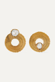Colette gold-tone pearl earrings