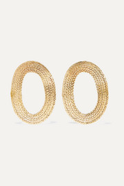 Claude gold-tone earrings