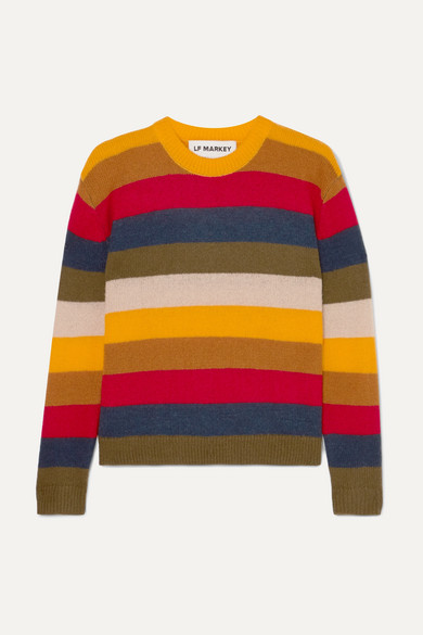 LF MARKEY Romeo Striped Knitted Sweater in Yellow