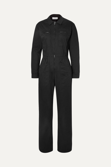 LF MARKEY Danny Cotton-Blend Jumpsuit in Black