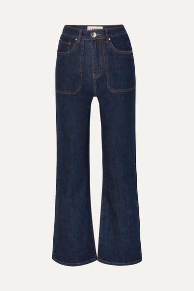 LF MARKEY Jimbo High-Rise Wide-Leg Jeans in Indigo