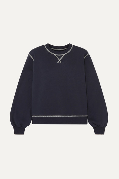 LF MARKEY Thierry Cotton-Jersey Sweatshirt in Navy