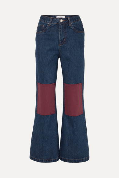 LF MARKEY Big Bells High-Rise Wide-Leg Jeans in Indigo