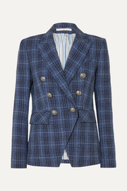 Miller Dickey checked wool-blend blazer