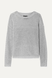 Rhys metallic knitted sweater