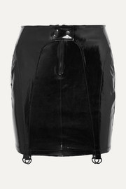 Zander patent-leather mini skirt