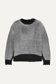 Emmet distressed ribbed Lurex and cotton sweater
