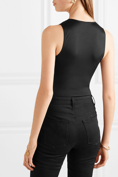 Balmain Suits Button-embellished stretch-jersey bodysuit