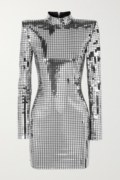 Balmain Dresses Embellished crepe mini dress