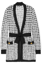 Balmain Houndstooth bouclé-tweed cardigan