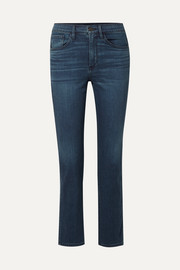 Stevie cropped high-rise straight-leg jeans