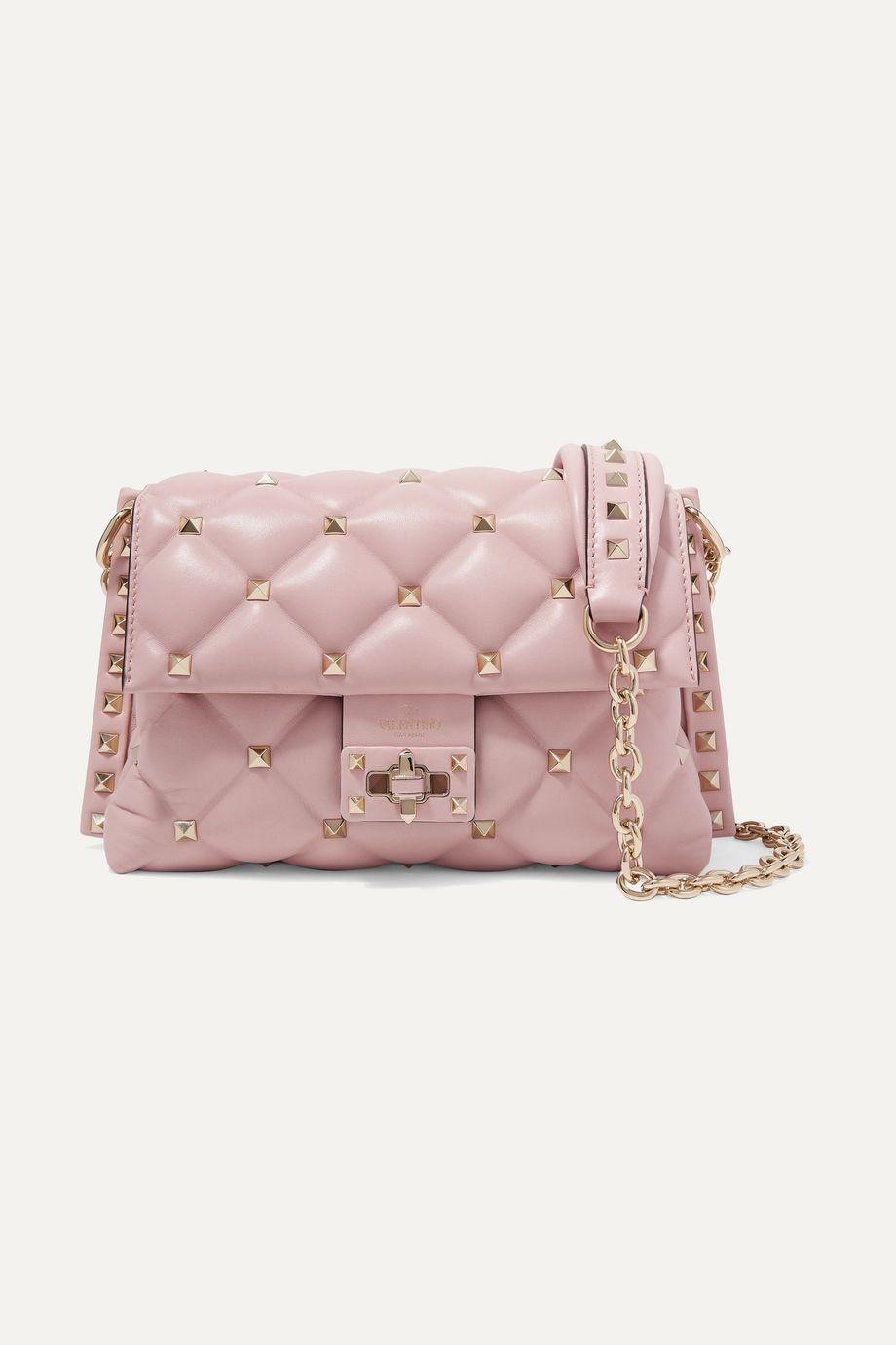 Valentino Valentino Garavani Candystud medium quilted leather shoulder bag