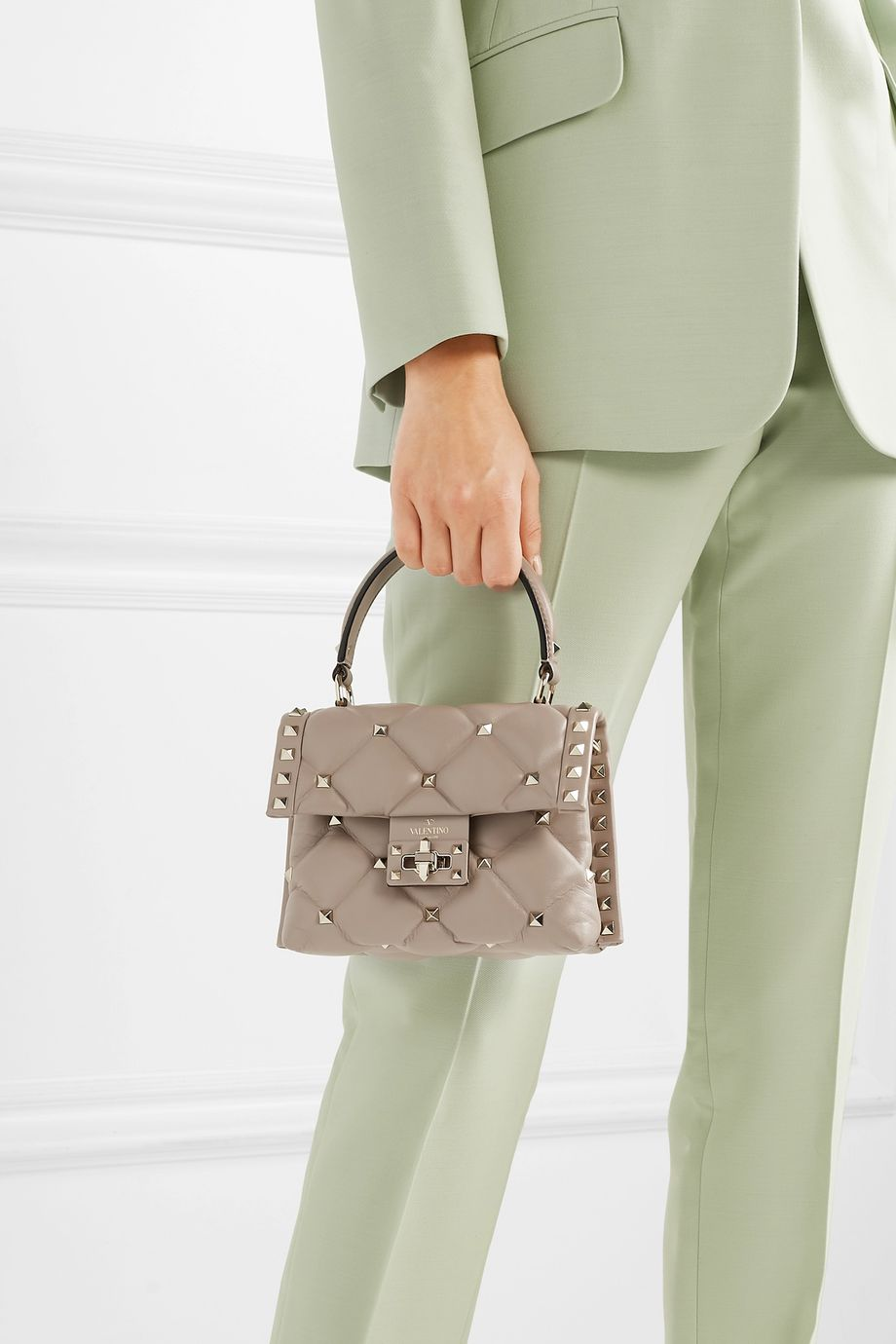 Valentino Valentino Garavani Candystud mini quilted leather shoulder bag