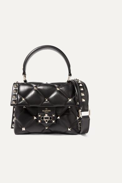 dc45b8514b9 Valentino | Valentino Garavani Candystud mini quilted leather shoulder bag  | NET-A-PORTER.COM