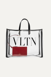 Valentino Garavani Grande Plage large leather-trimmed printed PVC tote