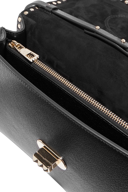 Valentino Valentino Garavani Rockstud No Limit textured-leather shoulder bag