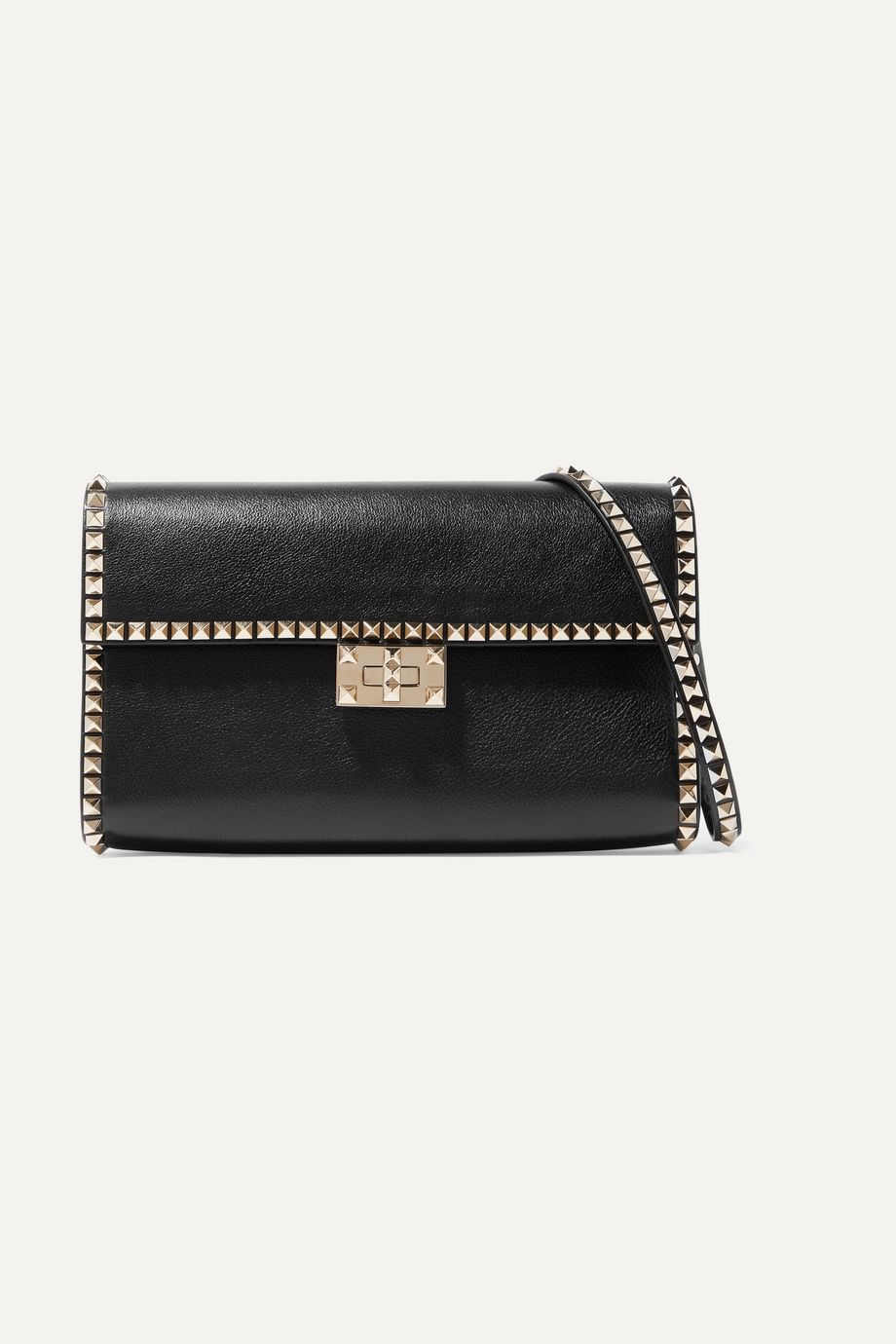 Valentino Valentino Garavani Rockstud No Limit textured-leather shoulder bag