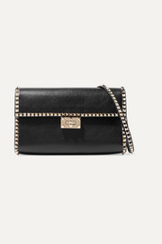 Valentino Garavani The Rockstud No Limit textured-leather shoulder bag