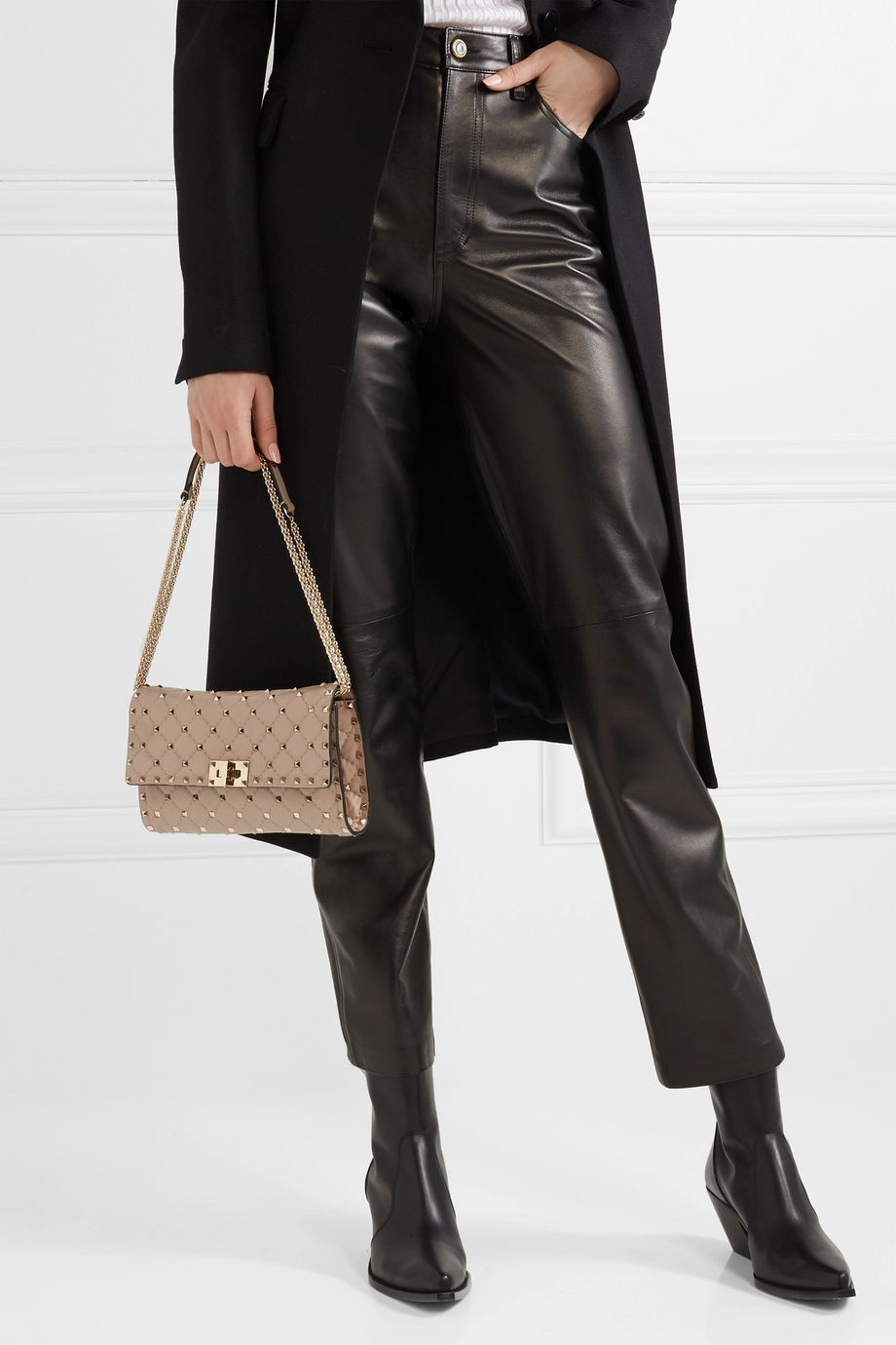 Valentino Valentino Garavani The Rockstud Spike quilted leather shoulder bag