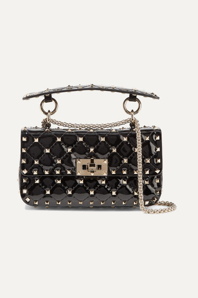 Valentino. Valentino Garavani The Rockstud Spike small quilted patent-leather  shoulder bag 6d9d27c476