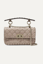 9c6f761d62fc6 Valentino Valentino Garavani The Rockstud Spike small quilted leather  shoulder bag
