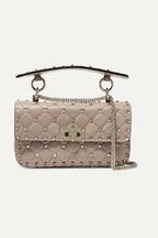 6afad6990827 Valentino Valentino Garavani The Rockstud Spike small quilted leather  shoulder bag