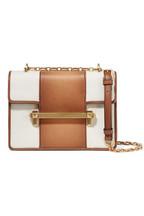 aba2313d01 Valentino Valentino Garavani Uptown medium leather and canvas shoulder bag