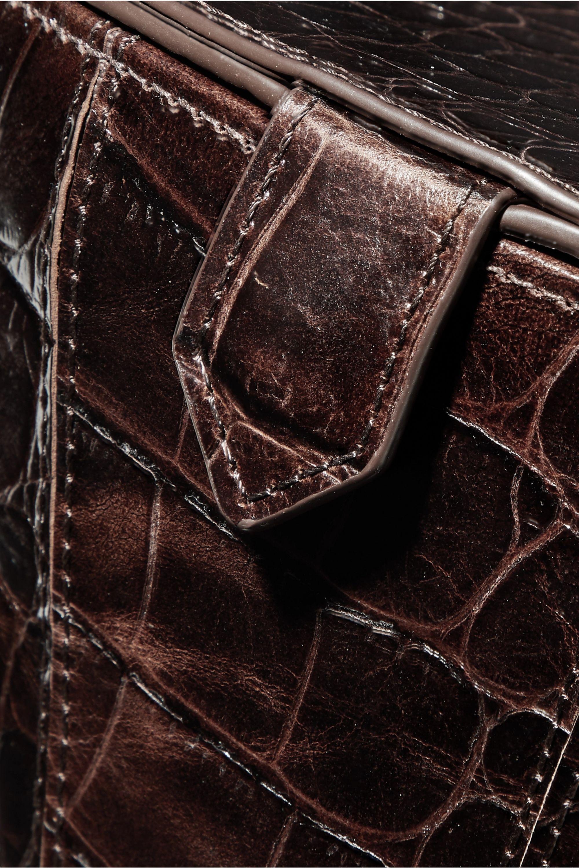 STAUD Alice croc-effect leather tote