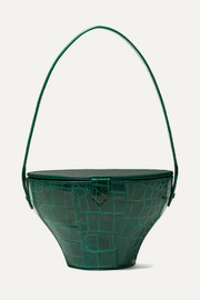 Alice croc-effect leather tote