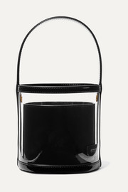 Bissett PVC and patent-leather bucket bag