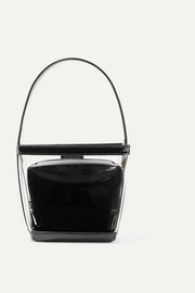 Edie PVC and patent-leather tote
