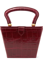 STAUD Sadie croc-effect leather tote