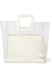 Shirley PVC and croc-effect leather tote