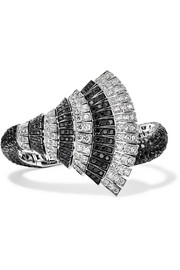 Ventaglio 18-karat white gold diamond bracelet