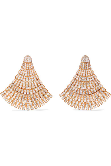 2f8b59b38d12c Ventaglio 18-karat rose gold diamond earrings