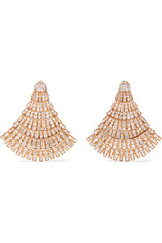 de GRISOGONO Boucles d'oreilles en or rose 18 carats et diamants Ventaglio