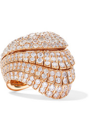 de GRISOGONO Ventaglio 18-karat rose gold diamond ring
