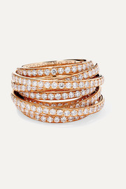 de GRISOGONO Allegra 18-karat rose gold diamond ring