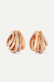 de GRISOGONO Allegra 18-karat rose gold diamond earrings