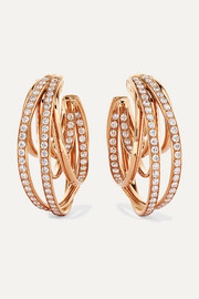 Allegra 18-karat rose gold diamond earrings