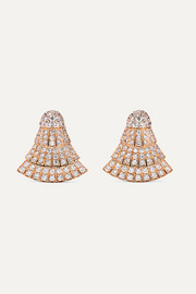 de GRISOGONO Ventaglio 18-karat rose gold diamond earrings
