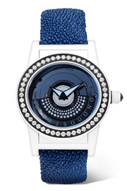 de GRISOGONO Tondo By Night SO1 GB Automatic 43mm fiberglass, stingray and diamond watch