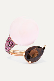 de GRISOGONO Boule 18-karat rose gold multi-stone ring