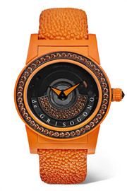 de GRISOGONO Tondo By Night S02 Automatic 43mm fiberglass, stingray and sapphire watch