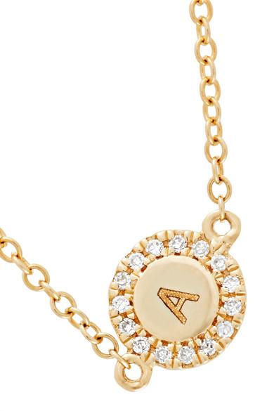 5fecfb672 STONE AND STRAND | Alphabet 14-karat gold diamond bracelet | NET-A ...