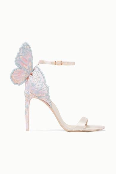 Sophia Webster Chiara embroidered satin sandals