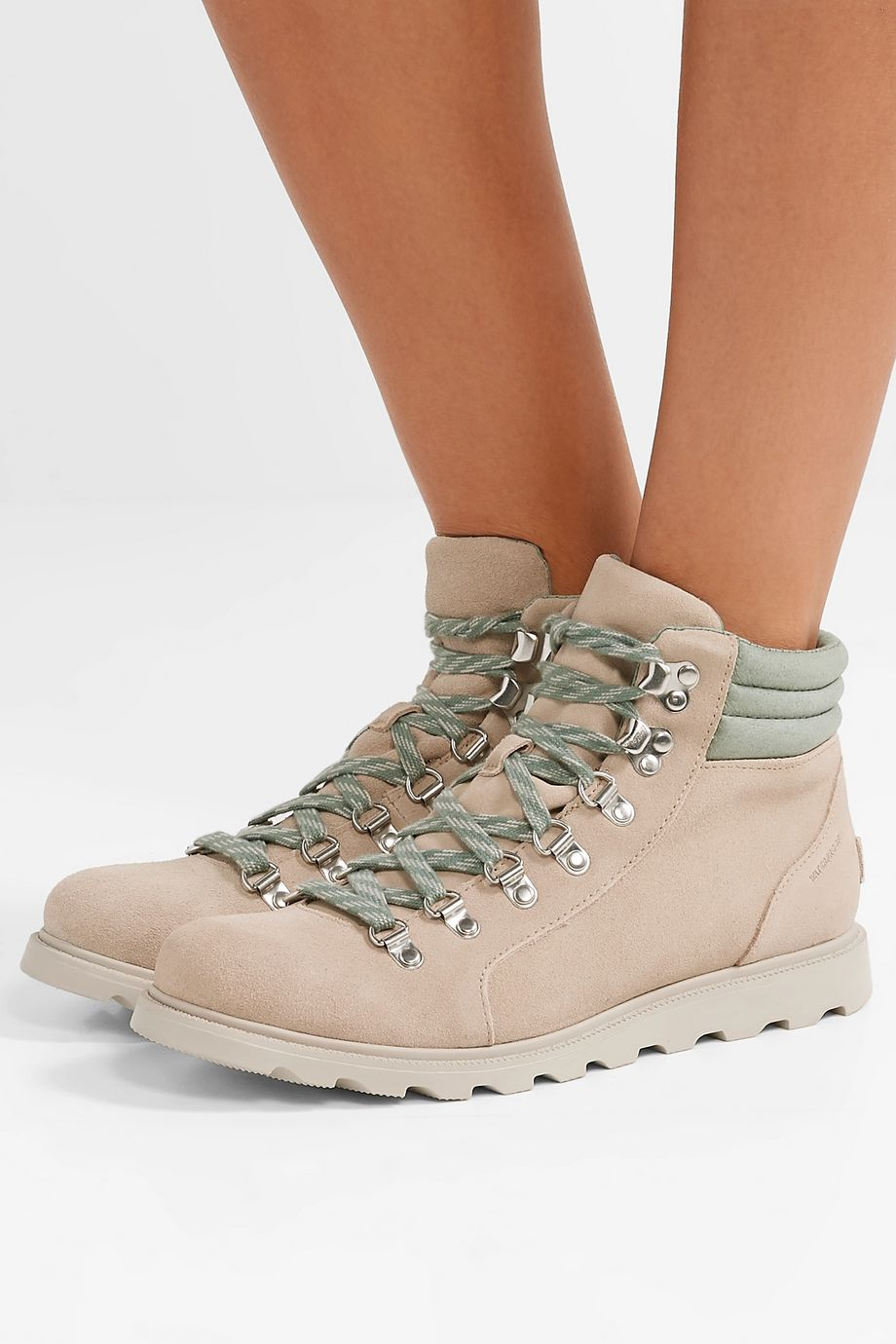 Sorel Ainsley Conquest waterproof suede and leather ankle boots